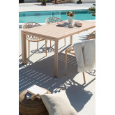 Tavolo da giardino allungabile rettangolare in alluminio (180-240x100 cm) Starmi, immagine in miniatura 1