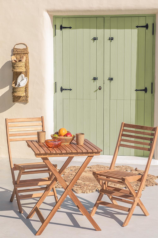 Set da giardino in legno di teak Nicola, immagine della galleria 1