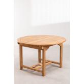 Set tavolo allungabile (120-170X75 cm) e 4 sedie da giardino pieghevoli in legno di teak Pira, immagine in miniatura 2