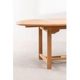 Set tavolo allungabile (120-170X75 cm) e 4 sedie da giardino pieghevoli in legno di teak Pira, immagine in miniatura 6