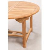 Set tavolo allungabile (120-170X75 cm) e 4 sedie da giardino pieghevoli in legno di teak Pira, immagine in miniatura 5