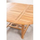 Set tavolo allungabile (120-170X75 cm) e 4 sedie da giardino pieghevoli in legno di teak Pira, immagine in miniatura 4