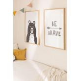 Set di 2 poster decorativi (50x70 cm) Brave Kids, immagine in miniatura 1