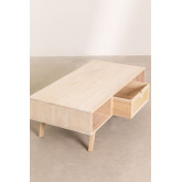 Tavolino in legno con cassetto centrale Ralik Style, immagine in miniatura 5