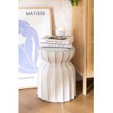 Tavolino rotondo in ceramica (Ø 31cm) Kande, immagine in miniatura 1