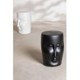Tavolino rotondo in ceramica (Ø32 cm) Jaret Mate, immagine in miniatura 5