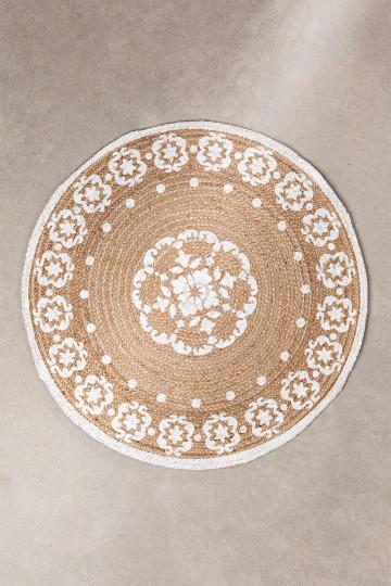Tappeto rotondo in iuta naturale (Ø100 cm) Iglika
