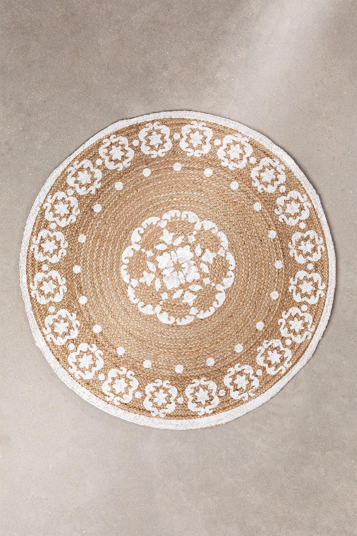 Tappeto rotondo in iuta naturale (Ø100 cm) Iglika, immagine della galleria 1