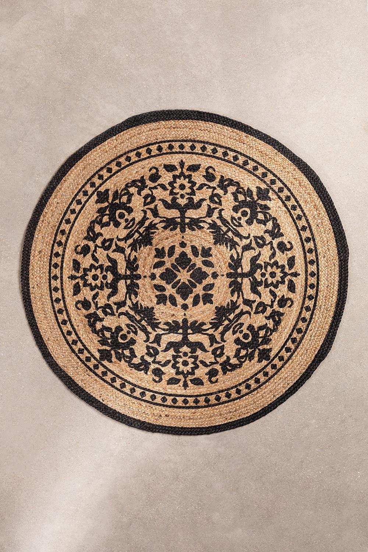 Tappeto rotondo in iuta naturale (Ø100 cm) Tricia, immagine della galleria 1