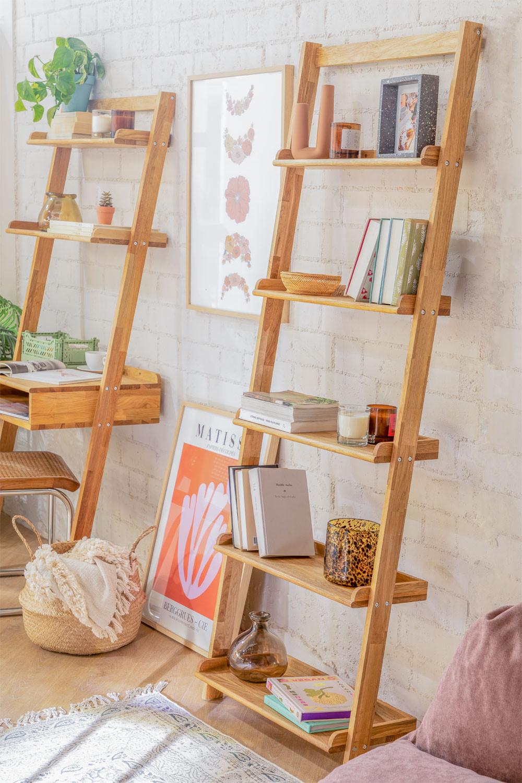 Scaffale in legno di quercia Idia, immagine della galleria 1