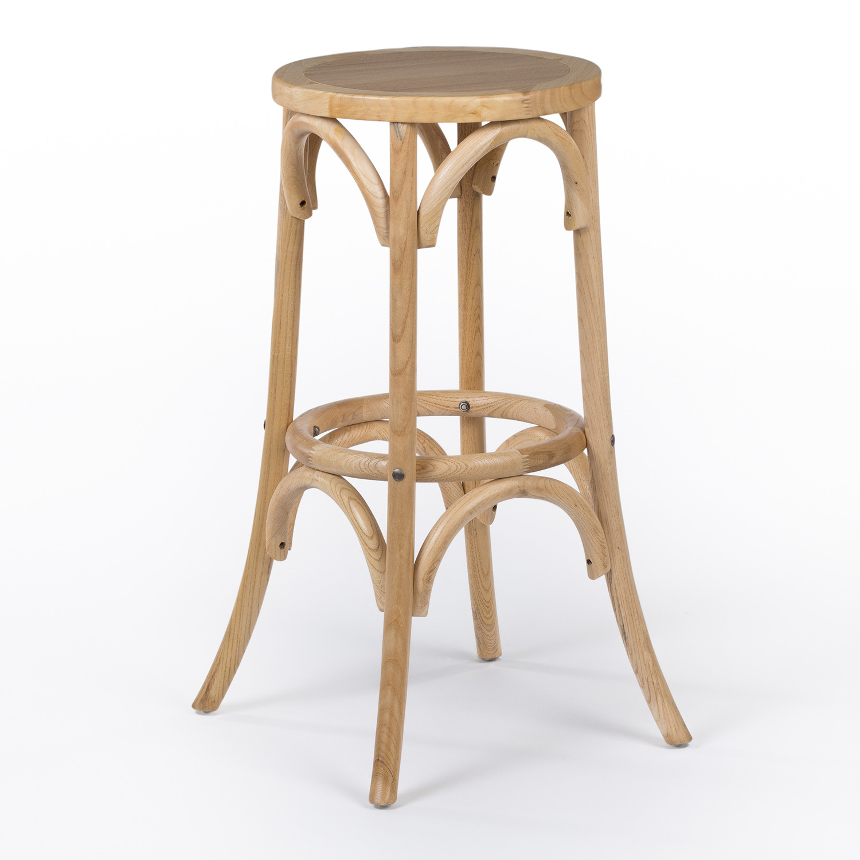 Sgabello alto in legno naturale Thon, immagine della galleria 1