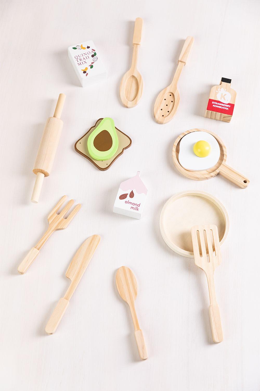 Set colazione in legno per Acatte Kids, immagine della galleria 1