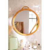 Specchio da parete rotondo in rattan (Ø53,5 cm) Daro, immagine in miniatura 1
