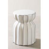Tavolino rotondo in ceramica (Ø 31cm) Kande, immagine in miniatura 2