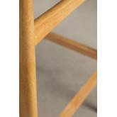 Sgabello Alto in Tessuto e Legno Cloda, immagine in miniatura 6