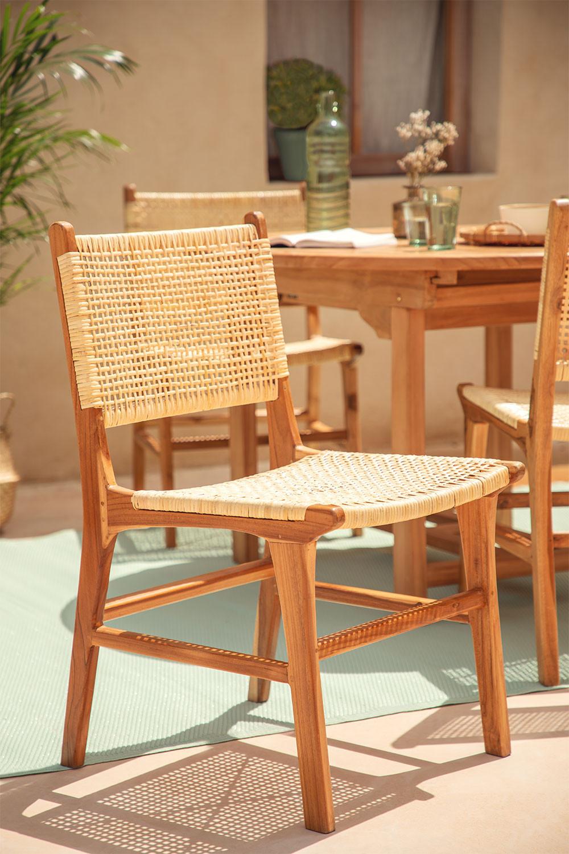 Sedia da giardino in legno di teak Catua, immagine della galleria 1