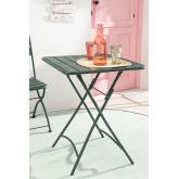 Tavolo da giardino pieghevole in acciaio (60x60 cm) Janti, immagine in miniatura 1