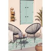 Set 2 sedie e 1 tavolo in polietilene e acciaio New Acapulco, immagine in miniatura 4