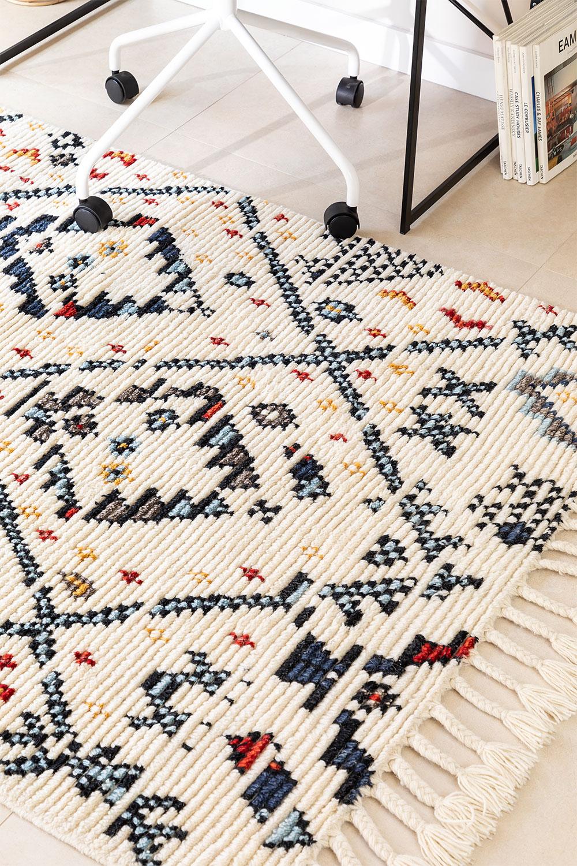 Tappeto in lana (205x120 cm) Erbe, immagine della galleria 1