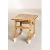 Sgabello basso in legno Pid, immagine in miniatura 3