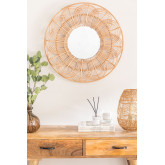 Specchio da parete rotondo in rattan (Ø60 cm) Corent, immagine in miniatura 1