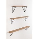 Set di scaffali da parete in legno Glai, immagine in miniatura 2