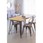 Tavolo in legno spazzolato LIX (160x80 cm), immagine in miniatura 1