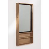 Specchio da parete rettangolare con mensole in MDF (96x46 cm) Quhe, immagine in miniatura 1