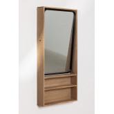Specchio da parete rettangolare con mensole in MDF (96x46 cm) Quhe, immagine in miniatura 2