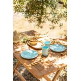 Tavolo da Giardino Rettangolare Pieghevole in Legno di Teak (120x70 cm) Pira, immagine in miniatura 2