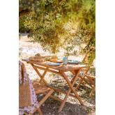 Tavolo da Giardino Rettangolare Pieghevole in Legno di Teak (120x70 cm) Pira, immagine in miniatura 1
