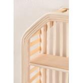 Mensola da parete in rattan e legno Marua, immagine in miniatura 3