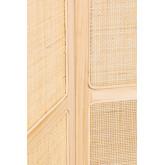 Paravento in rattan e legno Varok, immagine in miniatura 5