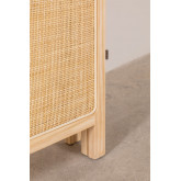 Paravento in rattan e legno Varok, immagine in miniatura 6