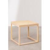 Tavolinetto in Rattan e Legno Riolut, immagine in miniatura 2