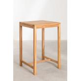 Tavolo alto quadrato da giardino in legno di teak Pira, immagine in miniatura 2