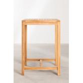 Tavolo alto quadrato da giardino in legno di teak Pira, immagine in miniatura 3