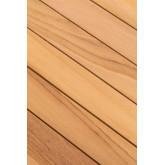Tavolo alto quadrato da giardino in legno di teak Pira, immagine in miniatura 6