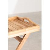Tavolino in legno di teak con vassoio per giardino Gustav , immagine in miniatura 5