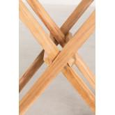 Tavolino in legno di teak con vassoio per giardino Gustav , immagine in miniatura 6