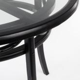 Tavolo da Pranzo Rotondo in Legno (Ø100 cm) Thon, immagine in miniatura 3