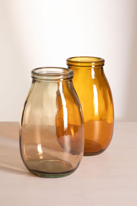 Vaso in vetro riciclato Konor, immagine della galleria 1