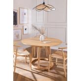 Tavolo da pranzo rotondo in legno (Ø120 cm) Celest, immagine in miniatura 1