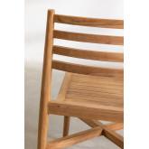 Sedia da giardino in legno di teak Attila, immagine in miniatura 5