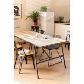 Tavolo da pranzo rettangolare in legno (200x91cm) Nathar Style, immagine in miniatura 1