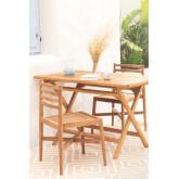 Sedia da giardino in legno di teak Attila, immagine in miniatura 2