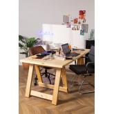 Tavolo pieghevole in legno (180x90 cm) Anic, immagine in miniatura 1