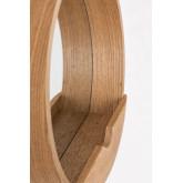Specchio da parete rotondo con mensola in legno Vern, immagine in miniatura 4