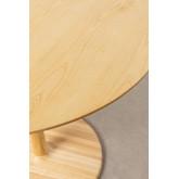 Tavolo da pranzo rotondo in legno di frassino Tuhl, immagine in miniatura 3
