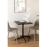 Tavolino da Bar Pieghevole e Trasformabile in 2 altezze in Acciaio (60x60 cm) Dely, immagine in miniatura 1